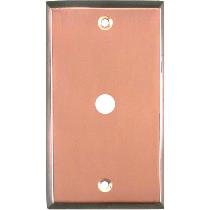 Antique Edge Copper Coax Cable TV Wall Plates