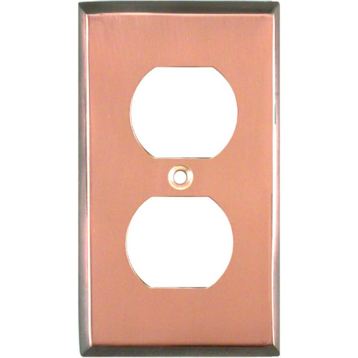 Antique Edge Copper 1 Gang Duplex Outlet Cover Wall Plate