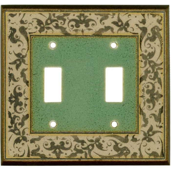 Arabesque Ceramic2 Toggle Switch Plates
