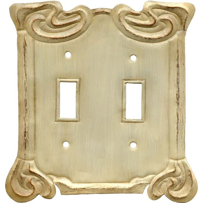 Arabesque Scroll Double 2 Toggle Switch Plate Covers