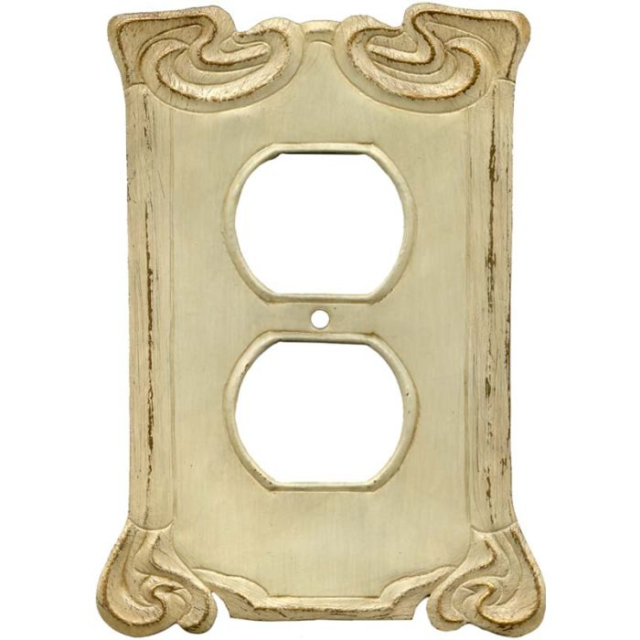 Arabesque Scroll 1 Gang Duplex Outlet Cover Wall Plate