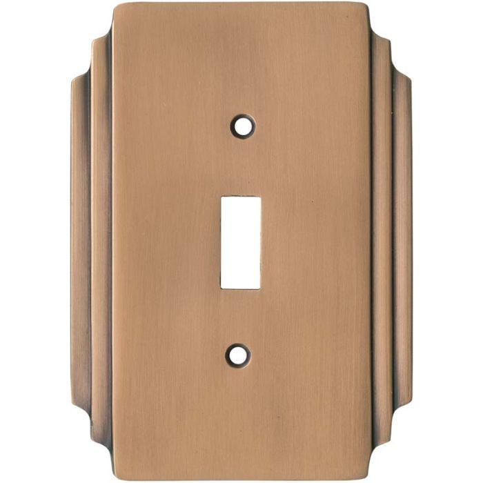 Art Deco Miami Beach Antique Copper 1 Toggle Light Switch Cover