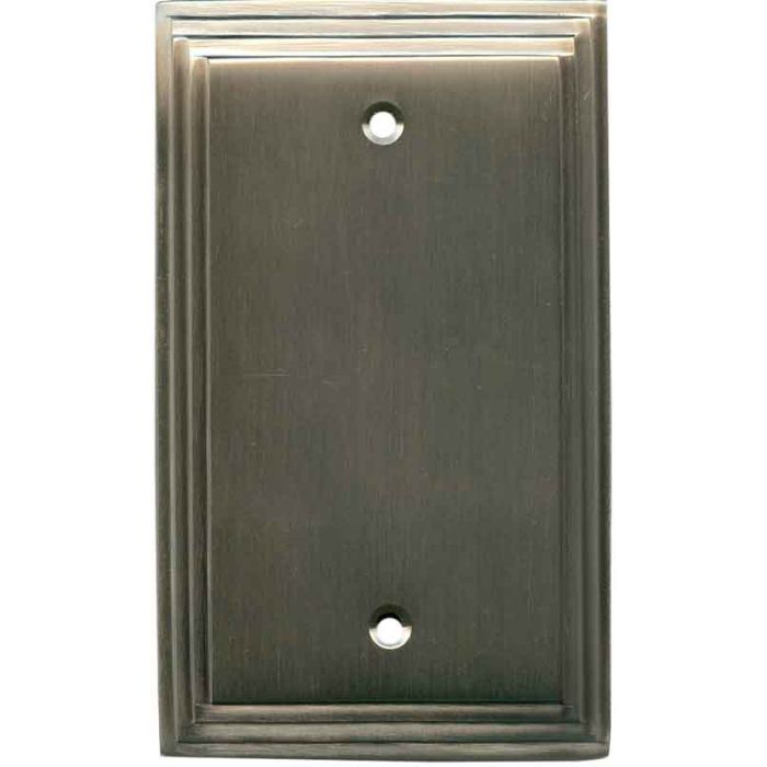 Art Deco Step Antique Pewter - Blank Wall Plates