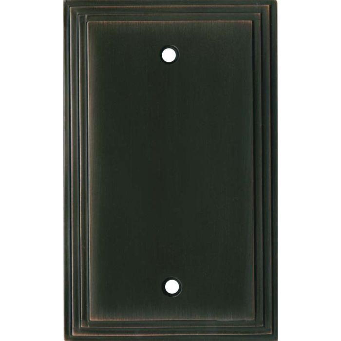 Art Deco Step Oil Rubbed Bronze - Blank Wall Plates