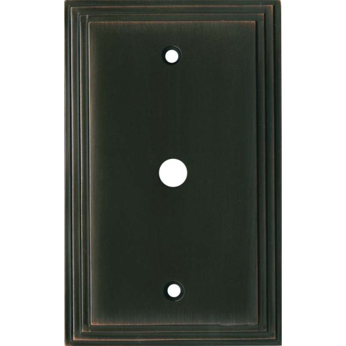 Art Deco Step Oil Rubbed Bronze - Cable Wall Plates