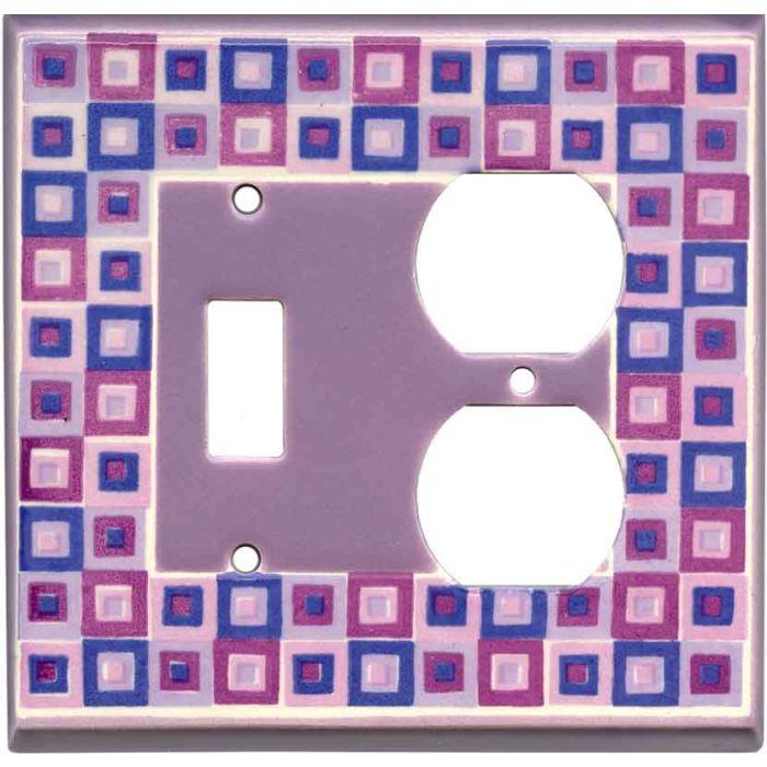 Art Glass Purple Ceramic