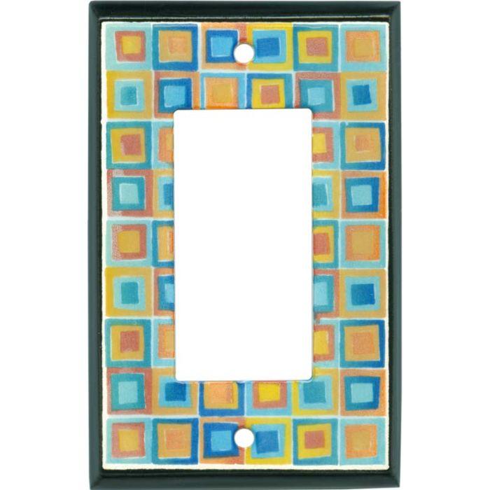 Art Glass Ceramic Single 1 Gang GFCI Rocker Decora Switch Plate Cover