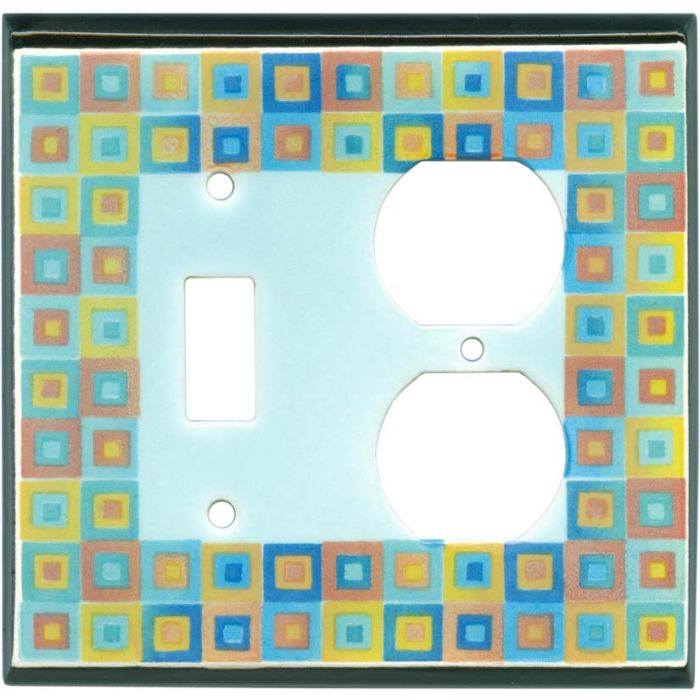 Art Glass Ceramic Combination 1 Toggle / Outlet Cover Plates