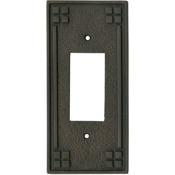Arts and Crafts Crest - GFCI Rocker Switch Plate Covers