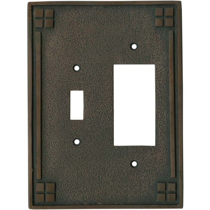 Arts and Crafts Crest - Combination 1 Toggle/Rocker Switch Covers