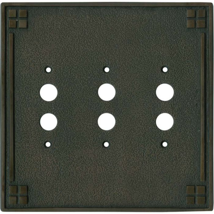 Arts and Crafts Crest 4 - Toggle Light Switch Covers & Wall Plates