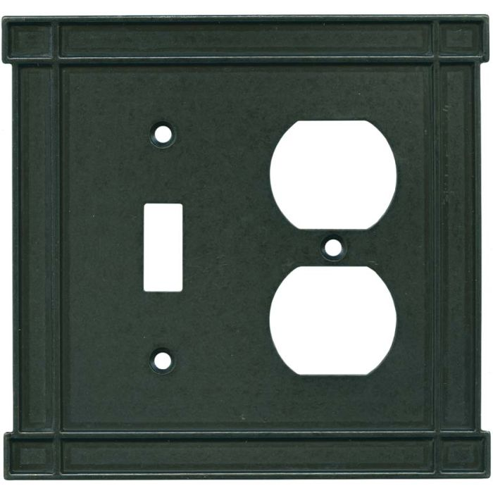 Brainerd Arts n Crafts Soft Iron Combination 1 Toggle / Outlet Cover Plates