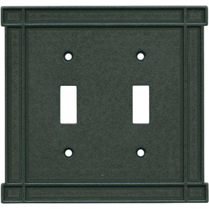 Brainerd Arts n Crafts Soft Iron Double 2 Toggle Switch Plate Covers