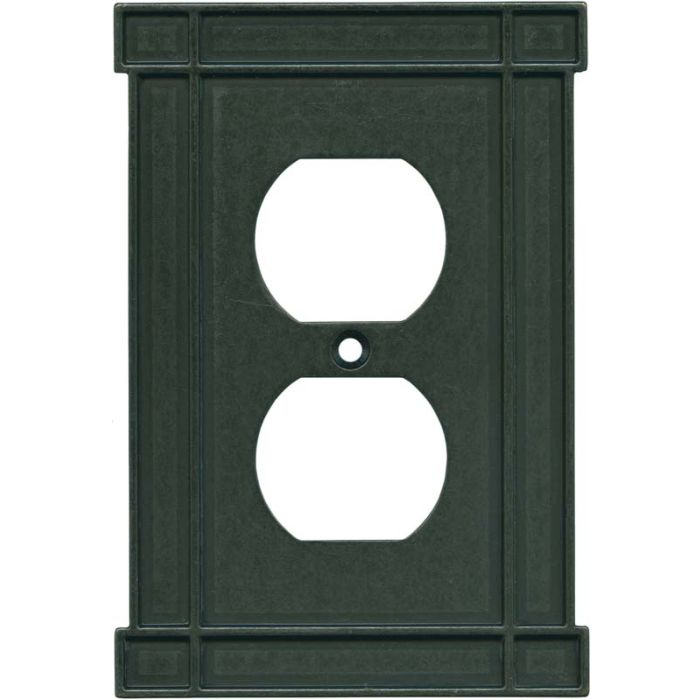 Brainerd Arts n Crafts Soft Iron 1 Gang Duplex Outlet Cover Wall Plate