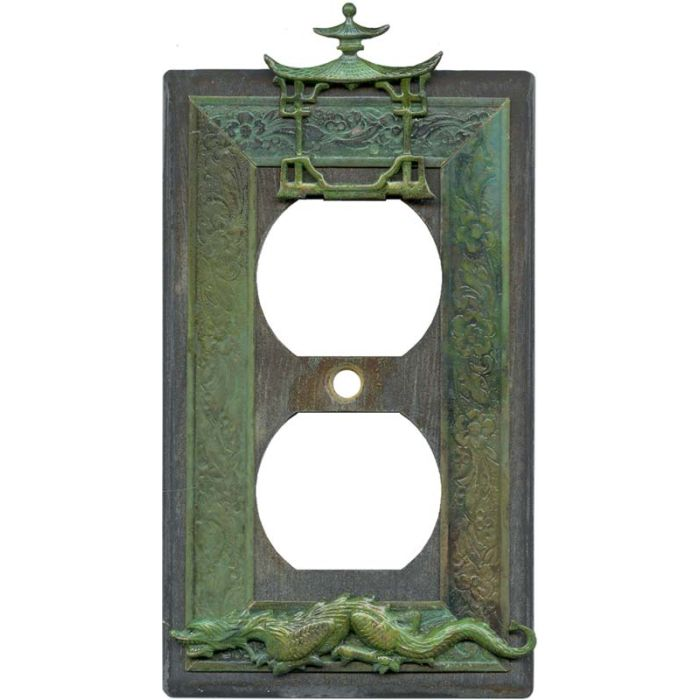Asian Teahouse 1 Gang Duplex Outlet Cover Wall Plate
