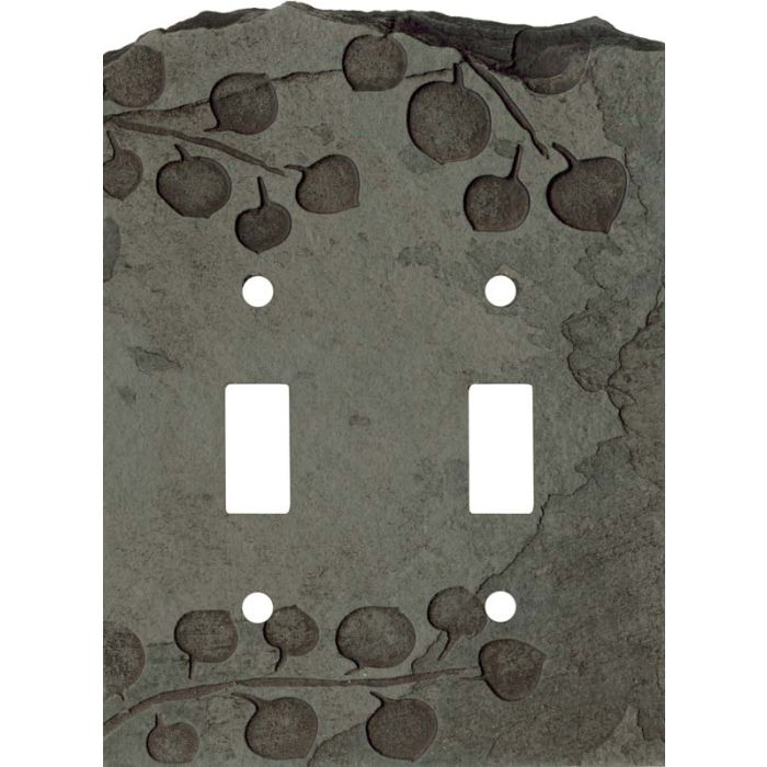 Aspen Petra Double 2 Toggle Switch Plate Covers