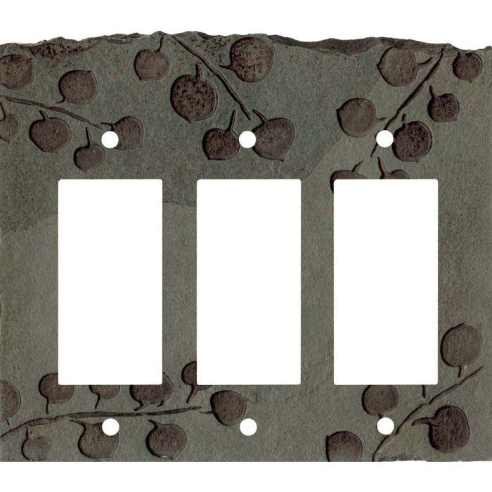 Aspen Petra Triple 3 Rocker GFCI Decora Light Switch Covers