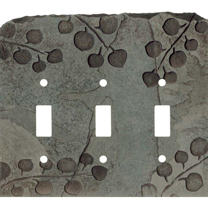 Aspen Petra Triple 3 Toggle Light Switch Covers