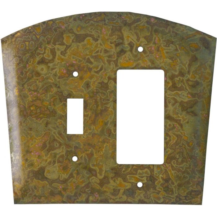 Autumn Brass Combination 1 Toggle / Rocker GFCI Switch Covers