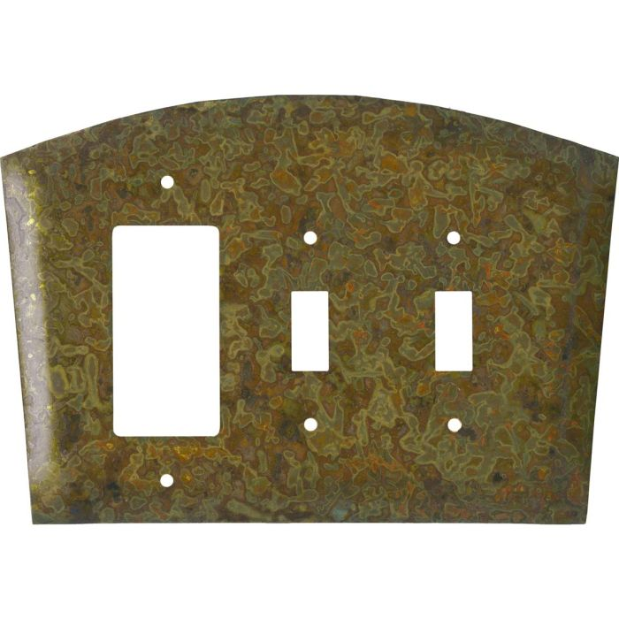 Autumn Brass 1-Gang GFCI Decorator Rocker Switch Plate Cover