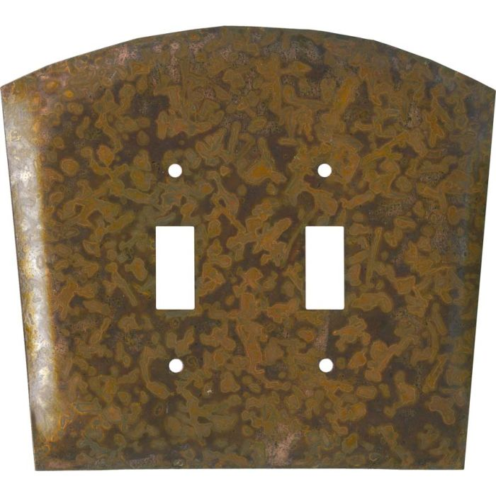 Autumn Copper Double 2 Toggle Switch Plate Covers