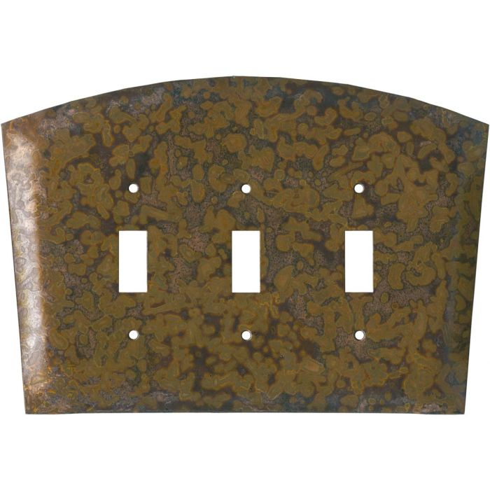Autumn Copper Triple 3 Toggle Light Switch Covers