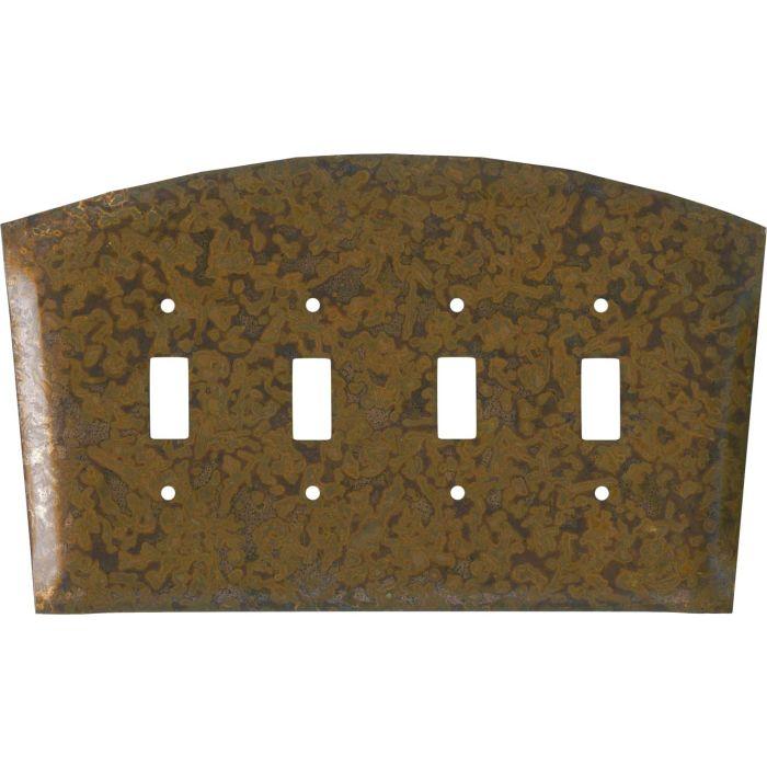 Autumn Copper Quad 4 Toggle Light Switch Covers