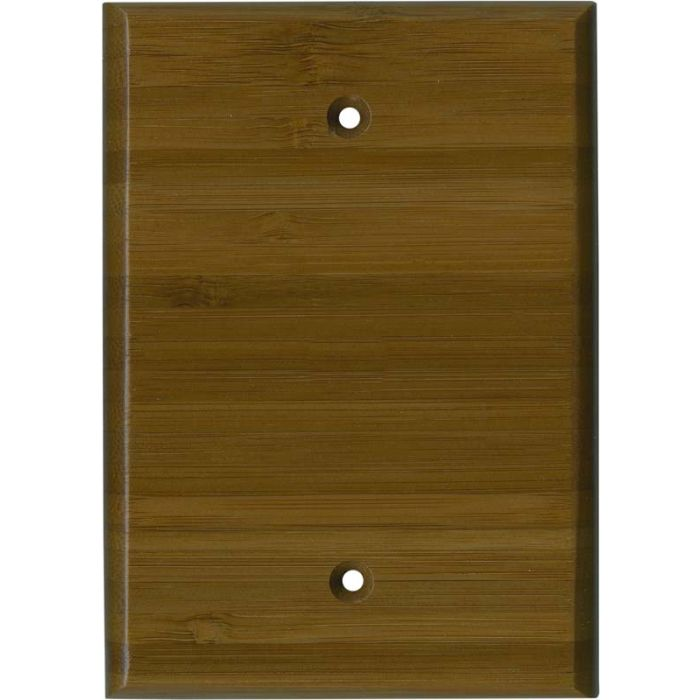 Bamboo Caramel Satin Lacquer Blank Wall Plate Cover