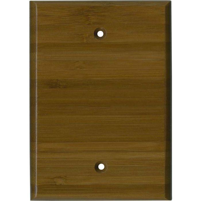 Bamboo Caramel Satin Lacquer - Blank Wall Plates