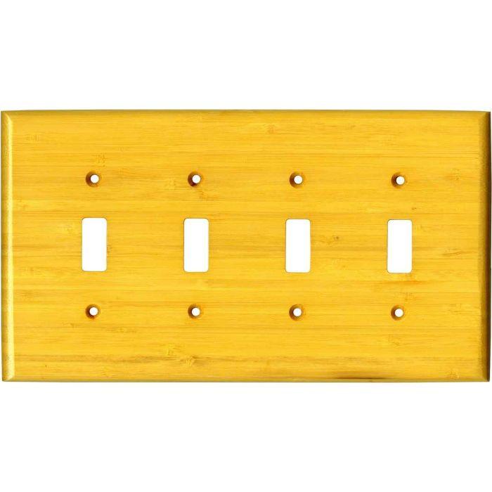 Bamboo Evening Glow Yellow Quad 4 Toggle Light Switch Covers