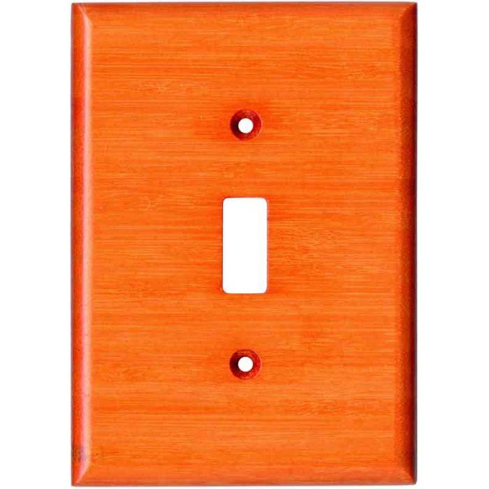 Bamboo Mandarin Orange Single 1 Toggle Light Switch Plates