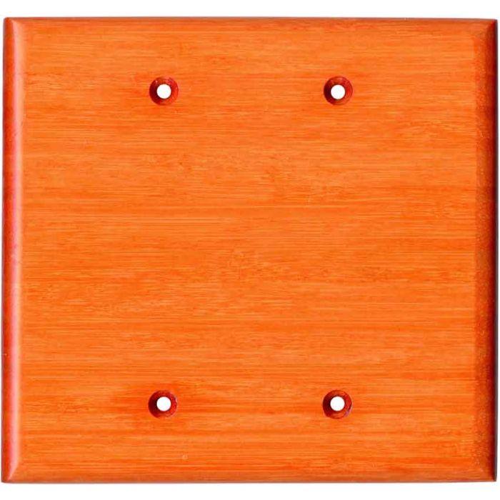 Bamboo Mandarin Orange Double Blank Wallplate Covers