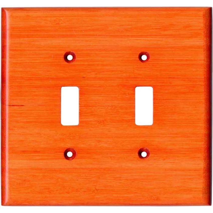 Bamboo Mandarin Orange Double 2 Toggle Switch Plate Covers
