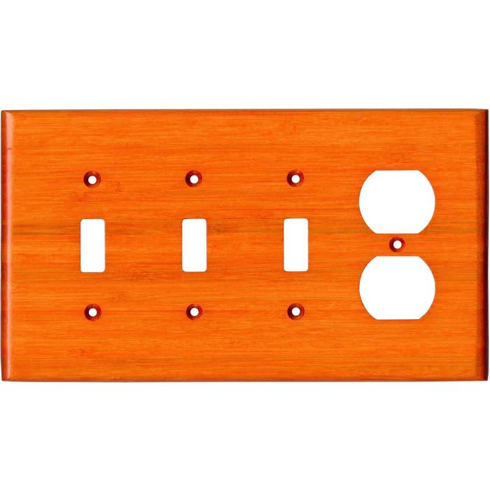 Bamboo Mandarin Orange3-Toggle / 1-Duplex - Combination Wall Plates