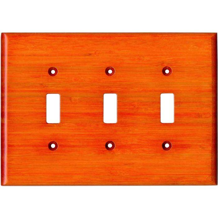 Bamboo Mandarin Orange Triple 3 Toggle Light Switch Covers