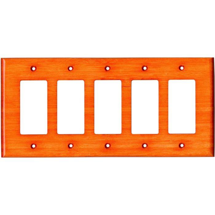 Bamboo Mandarin Orange 5 GFCI Rocker Decora Switch Covers