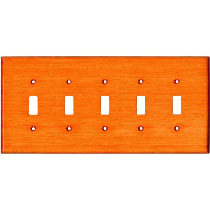 Bamboo Mandarin Orange 5 Toggle Wall Switch Plates
