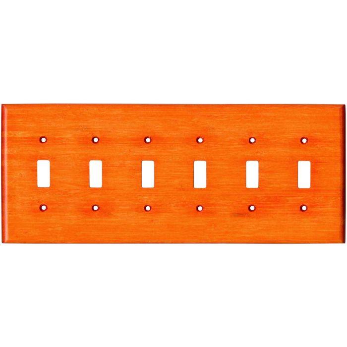 Bamboo Mandarin Orange 6 Toggle Wall Plate Covers