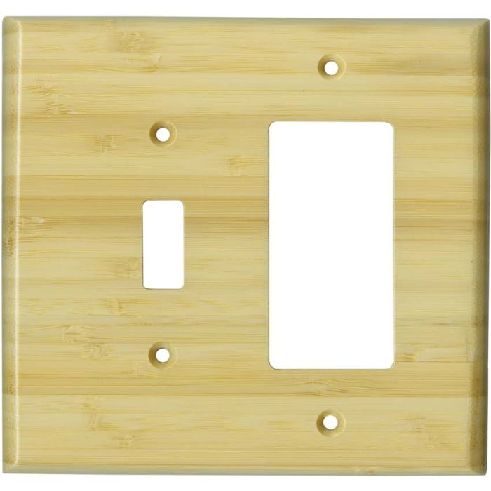 Bamboo Natural Satin Lacquer - Combination 1 Toggle/Rocker Switch Covers