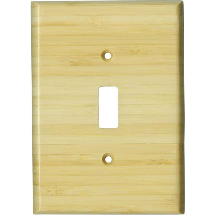 Bamboo Natural Satin Lacquer - 1 Toggle Light Switch Plates