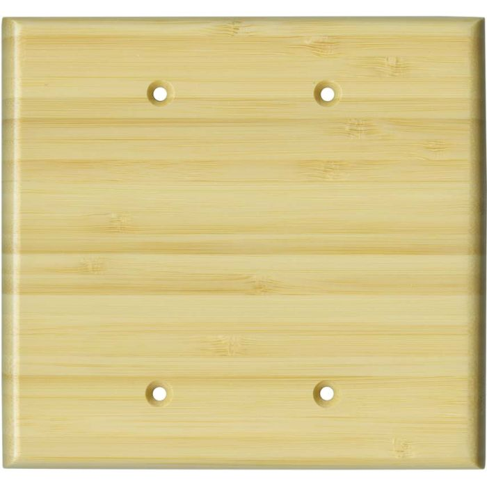Bamboo Natural Satin Lacquer - Double Blank Wallplate Covers