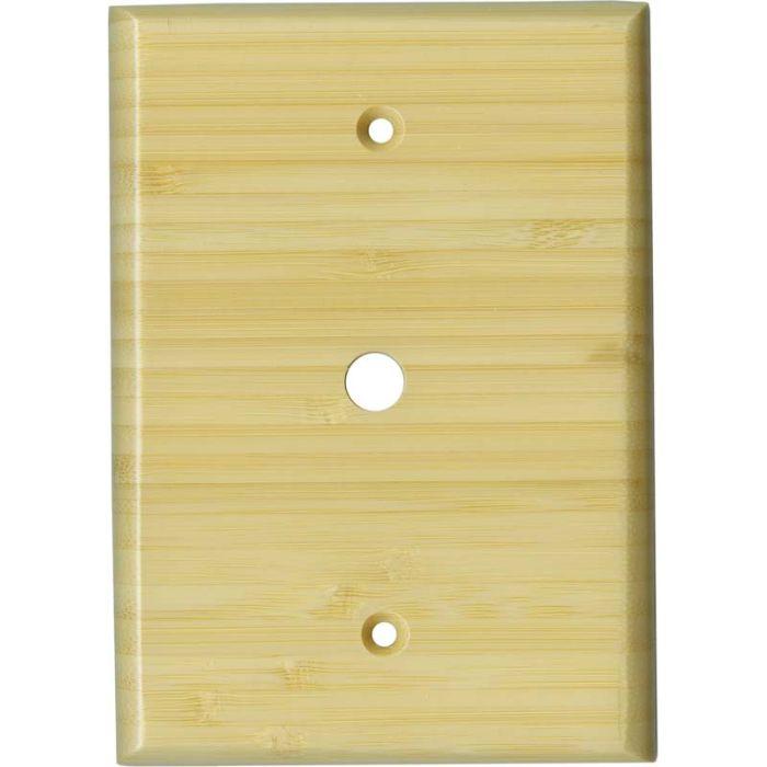 Bamboo Natural Satin Lacquer Coax Cable TV Wall Plates