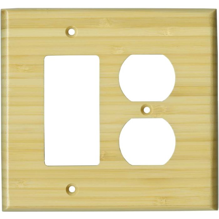 Bamboo Natural Satin Lacquer 1-Gang GFCI Decorator Rocker Switch Plate Cover