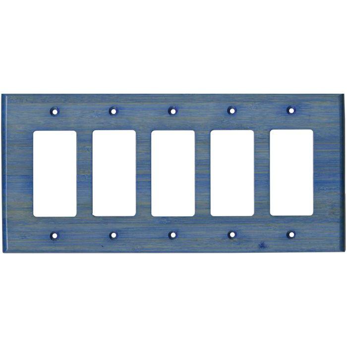 Bamboo Smoke Blue 5 GFCI Rocker Decora Switch Covers