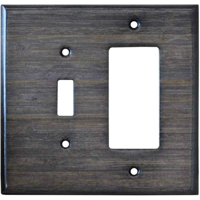 Bamboo Star Anise Black Combination 1 Toggle / Rocker GFCI Switch Covers