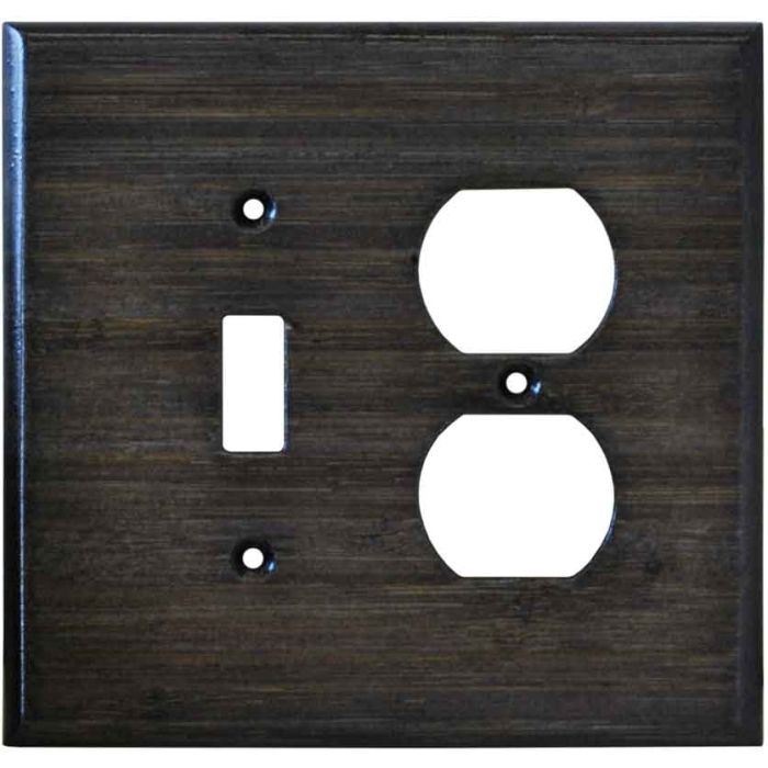 Bamboo Star Anise Black Combination 1 Toggle / Outlet Cover Plates