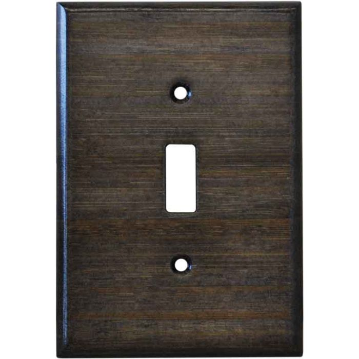 Bamboo Star Anise Black - Single Toggle Switch Plates