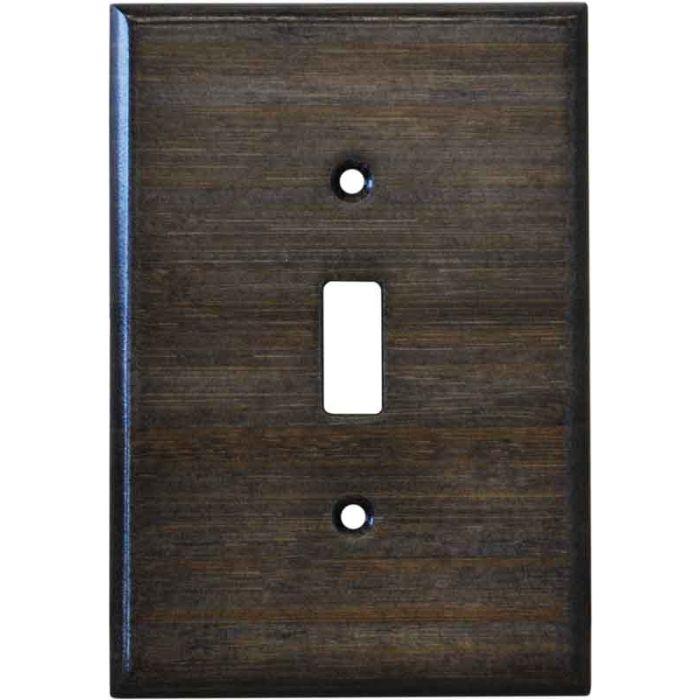 Bamboo Star Anise Black Single 1 Toggle Light Switch Plates