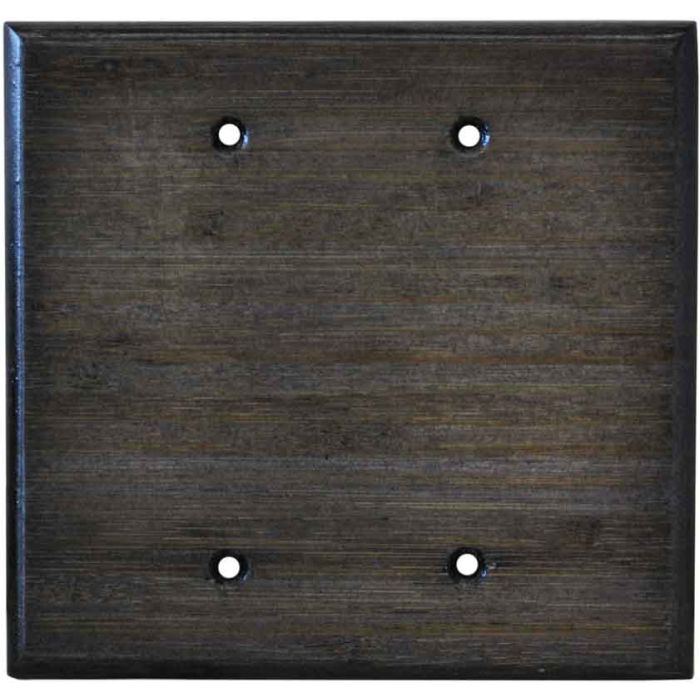 Bamboo Star Anise Black Double Blank Wallplate Covers
