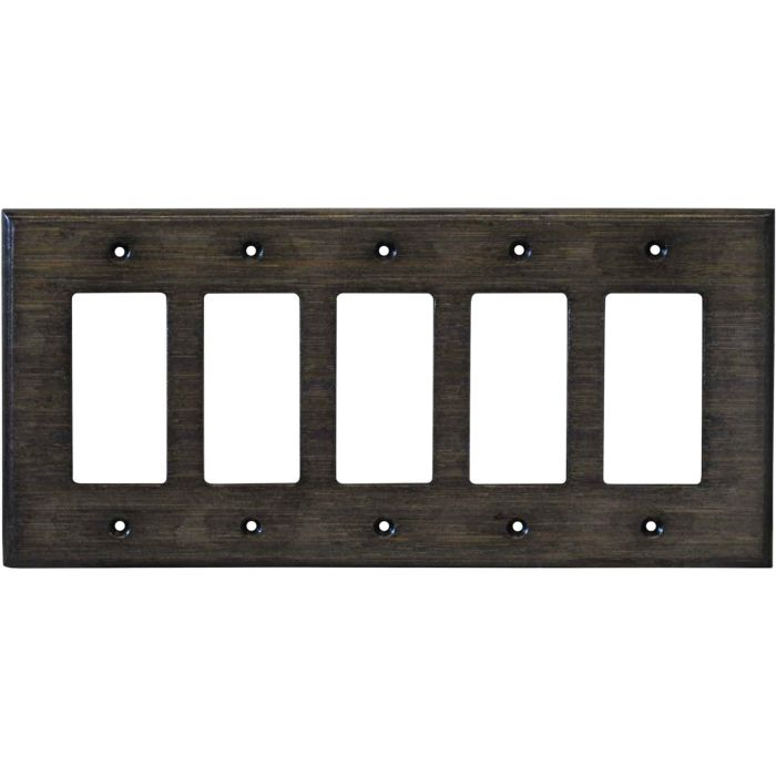 Bamboo Star Anise Black 5 GFCI Rocker Decora Switch Covers